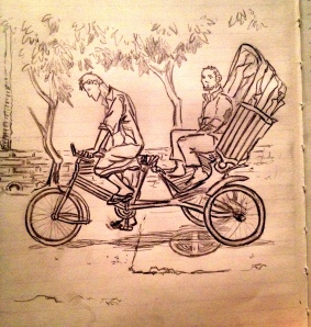 Bicycle Rickshaw Sketch