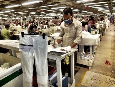 Sewing on the Factory Line